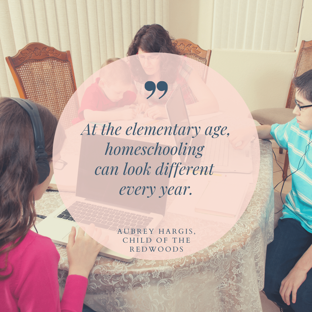 At the elementary age, homeschooling can look different every year.