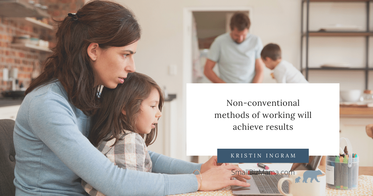 Non-conventional methods of working will achieve results