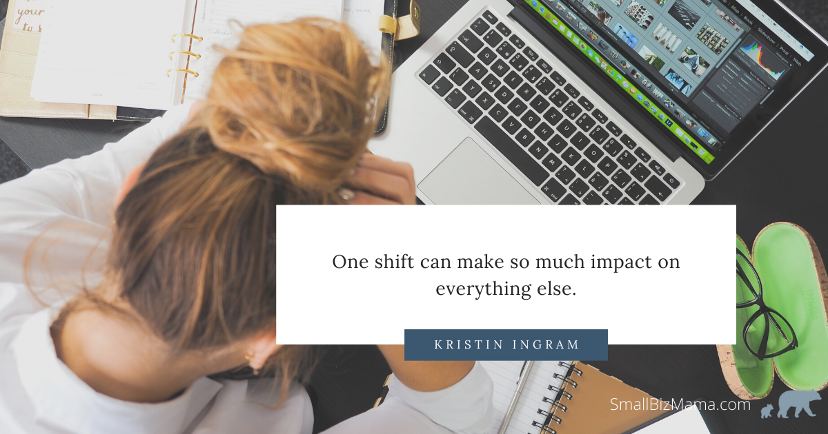 One shift can make so much impact on everything else