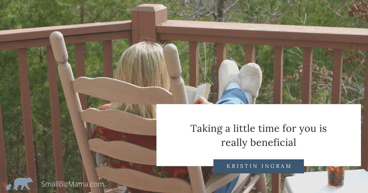 Taking a little time for you is really beneficial
