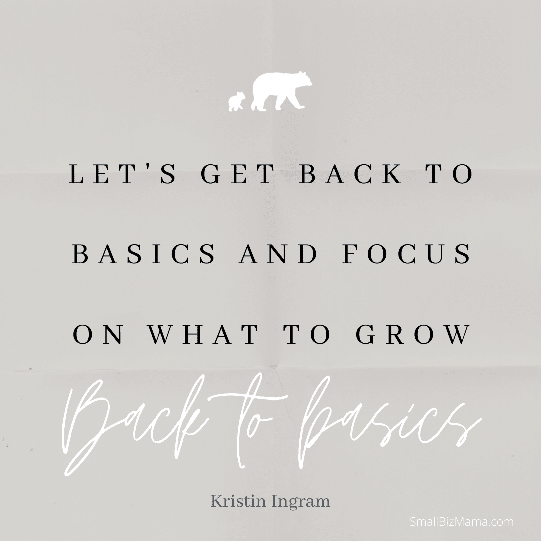 Lets get back to basics and focus on what to grow